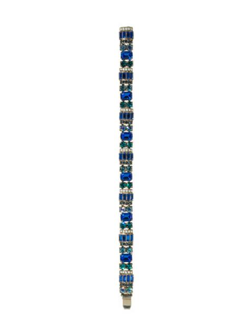 Sorrelli Electric Blue- Detailed Baguette and Octagon Crystal Line Bracelet~ BBZ44ASEB