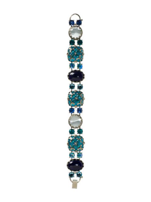 Sorrelli Electric Blue-Regal Cabochon Bracelet~ BCC10ASEB