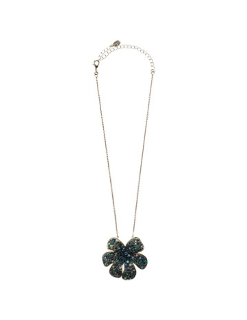Sorrelli Electric Blue- Retro Flower Pendant~ NCG15ASEB