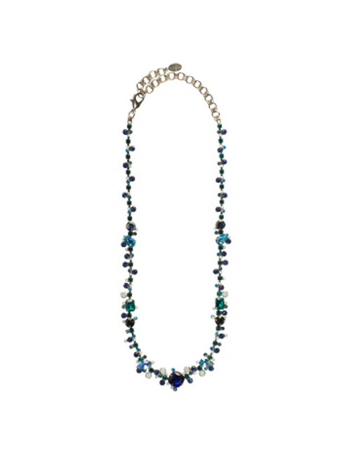 Sorrelli Electric Blue- Pear and Baguette Line Necklace~ NCC11ASEB