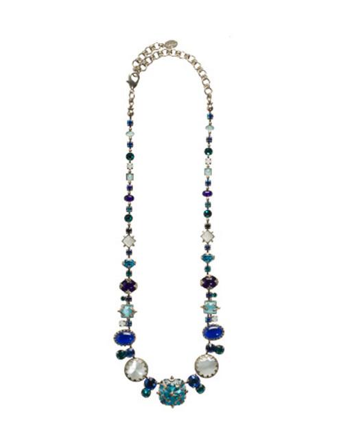 Sorrelli Electric Blue Royal Gem Crystal Necklace~ NCC10ASEB