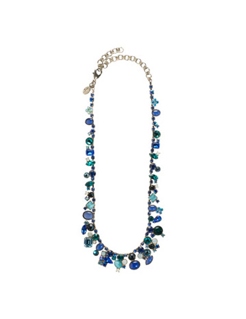 sorrelli electric blue crystal necklace nax8aseb
