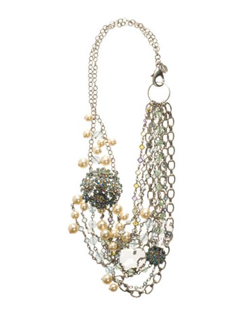 Sorrelli Running Water Crystal Necklace NCG17ASRW