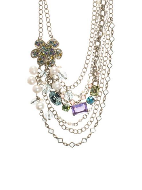 Sorrelli Running Water Swarovski Crystal Necklace NCG58ASRW