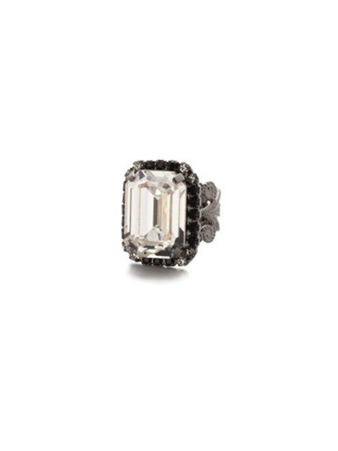 SORRELLI MIDNIGHT MOON - Petite Emerald Cut Cocktail Ring~ RCF9GMMMO