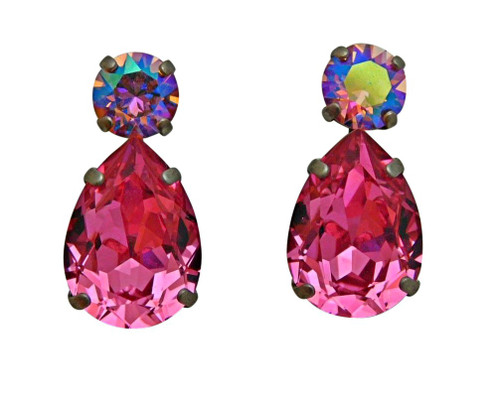 SORRELLI SWEET HEART CRYSTAL EARRINGS ECM9ASSWH