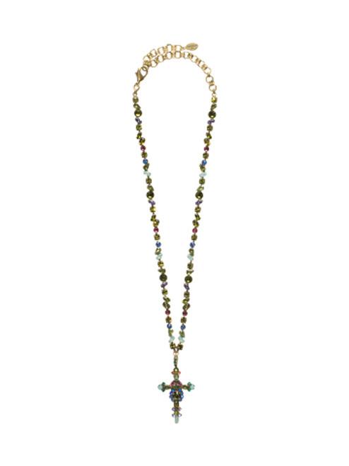 Sorrelli Wild Meadow Swarovski Crystal Necklace~ NBN22AGWME