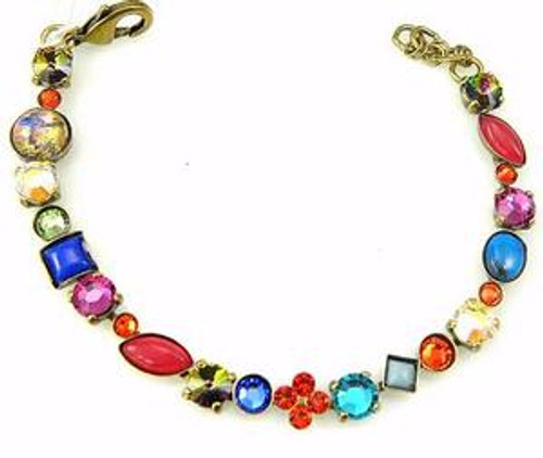 Additional View- Sorrelli Southwest Brights- Crystal and Cabochon Tennis Bracelet~ BAQ3AGSWB