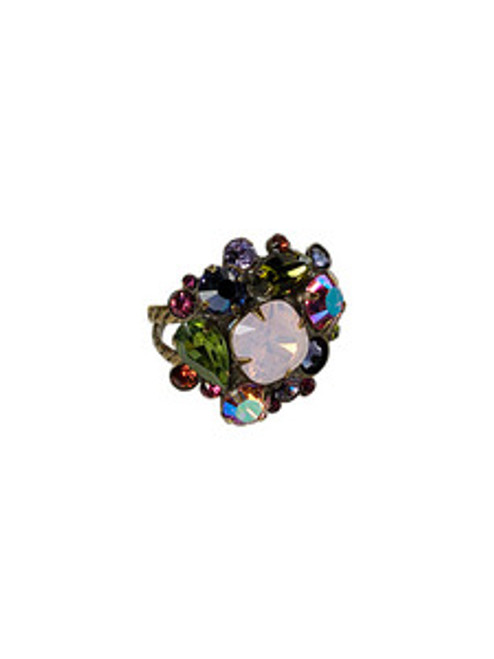 Sorrelli Coneflower Crystal Ring