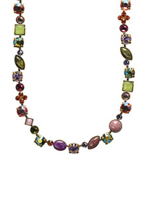 Sorrelli Coneflower Crystal Necklace NAQ3AGCF