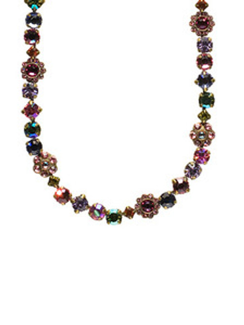 Sorrelli Coneflower Crystal Necklace NBE2AGCF