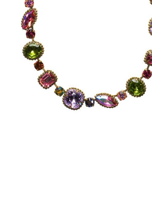 Sorrelli Coneflower Crystal Necklace NBX10AGCF