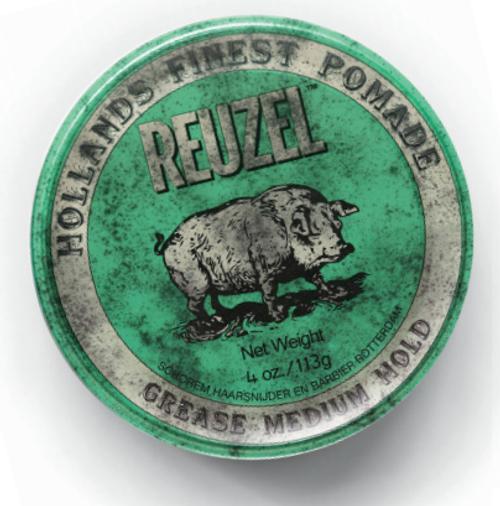 Reuzel Green Pomade-Grease-1.3oz. PIGLET