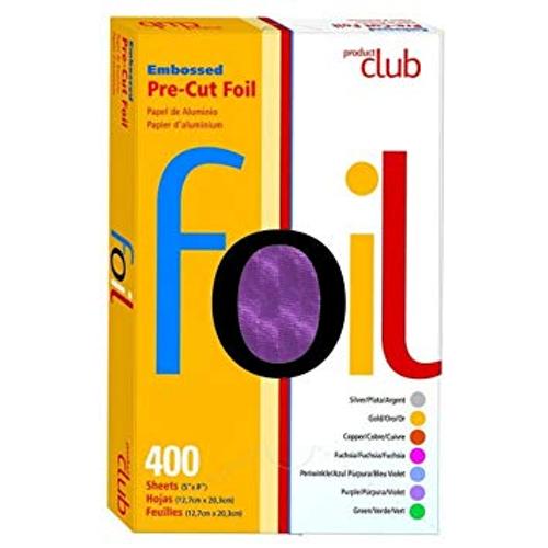"Product Club Embossed Bre-Cut Foil 400 (5"" x 8"") Purple"