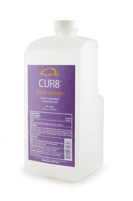 CUR8 HAND SANITIZER 64oz 68% ETHYL ALCOHOL
