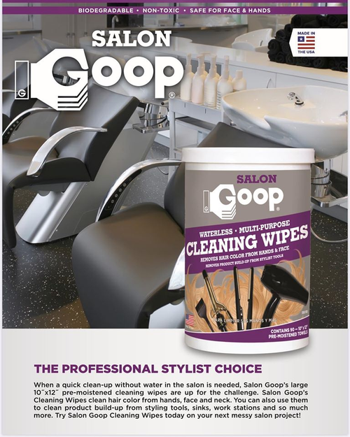 "Goop Sanitizing Wipes 90ct 10""x 12"" ( 80% Alcohol Wipes)"