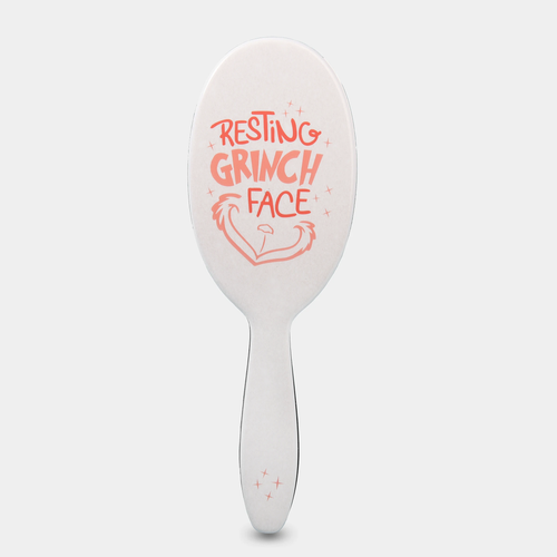 FRAMAR LIMITED Resting Grinch Face Detangle Brush