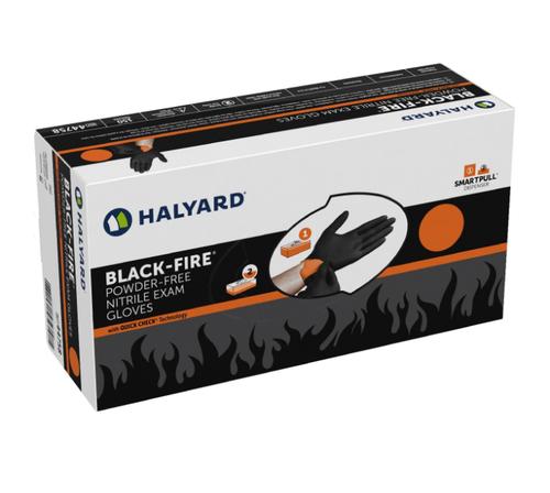 HALYARD ( XL) BLACK POWDER FREE NITRILE EXAM GLOVES