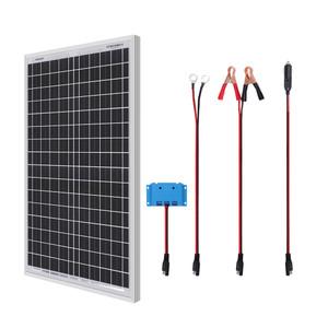 Kit Panel Solar 30W con Regulador de Carga PWM para Caravana y Casa