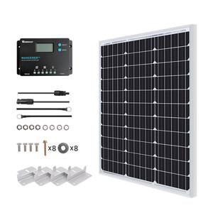 Kit Panel Solar Inicial Monocristalino de 50 Watt 12V