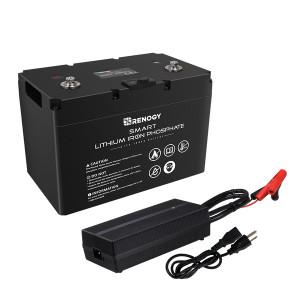 Batería de Litio 12V 100A con Cargador de Batería de 20A AC a DC
