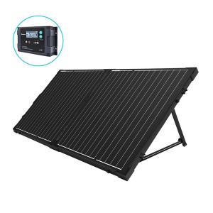 100W 12V Maleta Solar Plegable Regulador de Carga PWM 20A