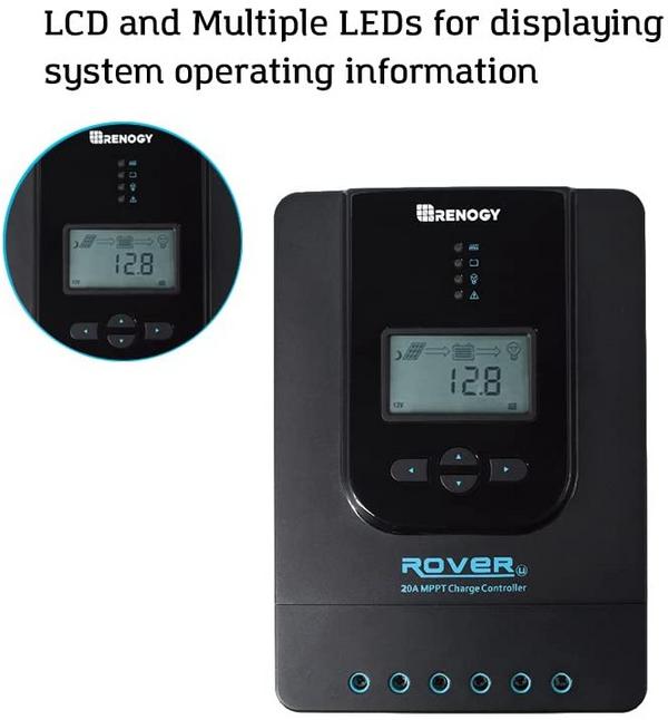 Regulador de Carga MPPT Rover Li 20A 12V/24V