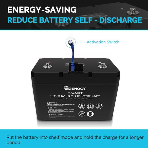 Batería Inteligente de Litio-Ferrofosfato de 12V 100Ah