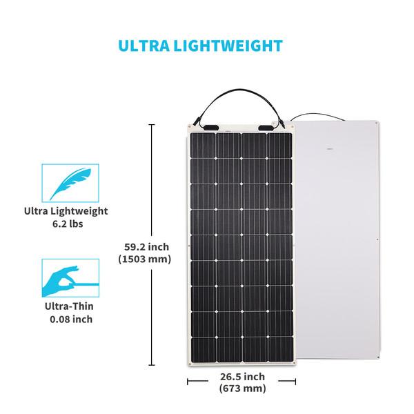 Panel Solar Monocristalino Flexible de 175W