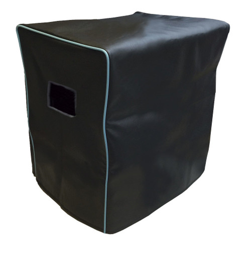 ACOUSTIC B115 NEO CABINET COVER - BLACK VINYL W/LIGHT BLUE PIPING