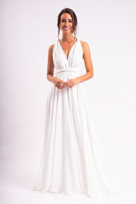 Luxe Satin Ballgown Multiway Infinity Dress in Ivory