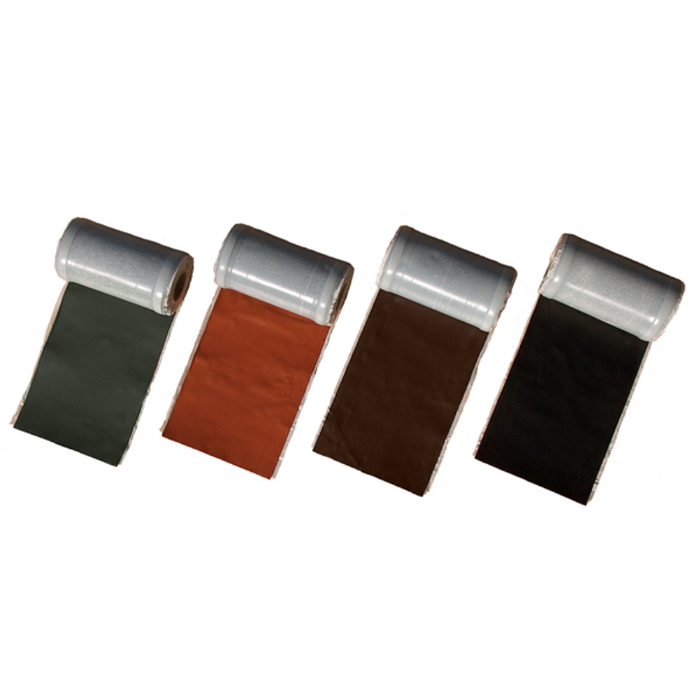 Wakaflex lead free flashing comes in four colours. Lead grey, black, terracotta, and brown.
