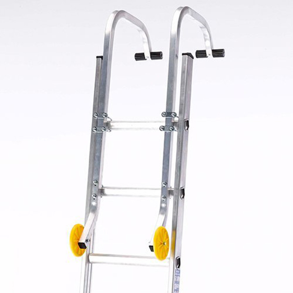 Ladder Roof Hooks clamp to your ladder in minutes.