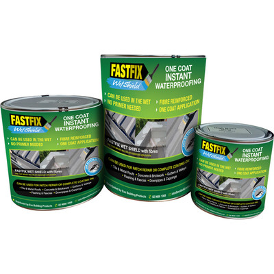 Fastfix Wet Shield. One coat instant waterproofing.