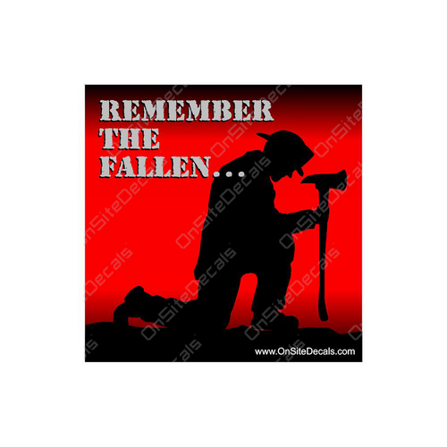 Remember the Fallen Red Firefighters Decal