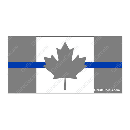 Blue Line Canada Flag Decal