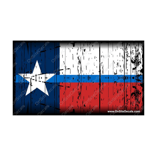 Blue Line Texas Flag Decal