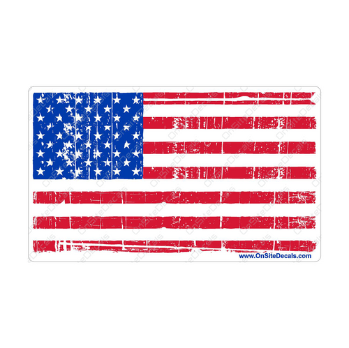 Distressed Look American Flag Decal