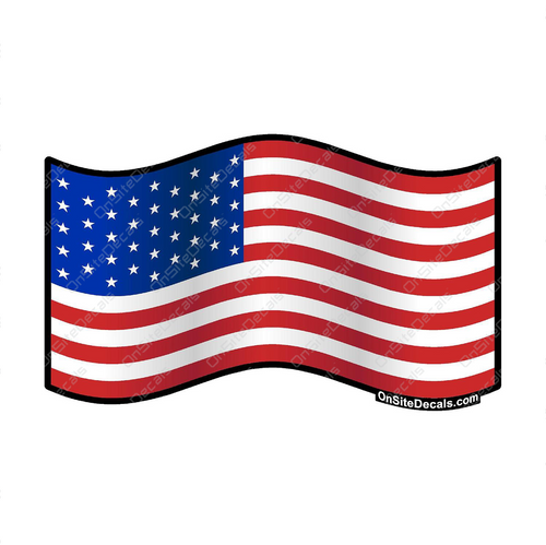 Waving American Flag Decal