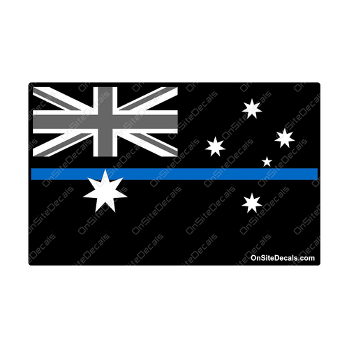 Blue Line Australian Flag Decal
