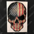 American Flag Skull Decal