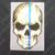 Blue Line American Flag Skull Decal