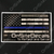 Blue Line OnSiteDecals American Flag Decal
