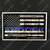 Blue Line American Flag In God We Trust Decal