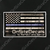 White on Blue EMS Line OnSiteDecals American Flag Decal