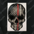 Red Line American Flag Skull Decal