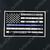 White on Blue Line EMS American Flag Decal
