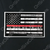 Red Line American Flag In God We Trust Decal