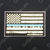 White on Blue American Flag EMS In God We Trust Decal