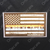 Blue and Red Line American Flag In God We Trust Decal